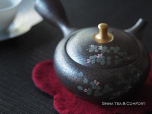 Tenmoku, oil drops, Japanese Teapot Kyusu