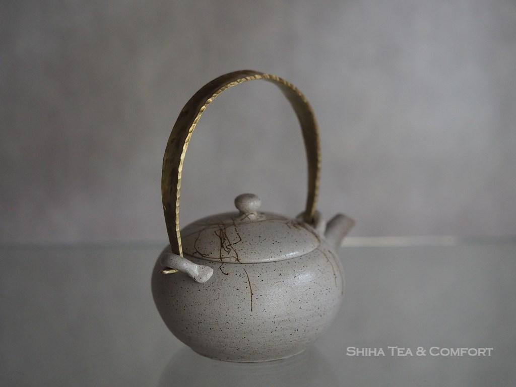 Jinsyu seaweed white teapot