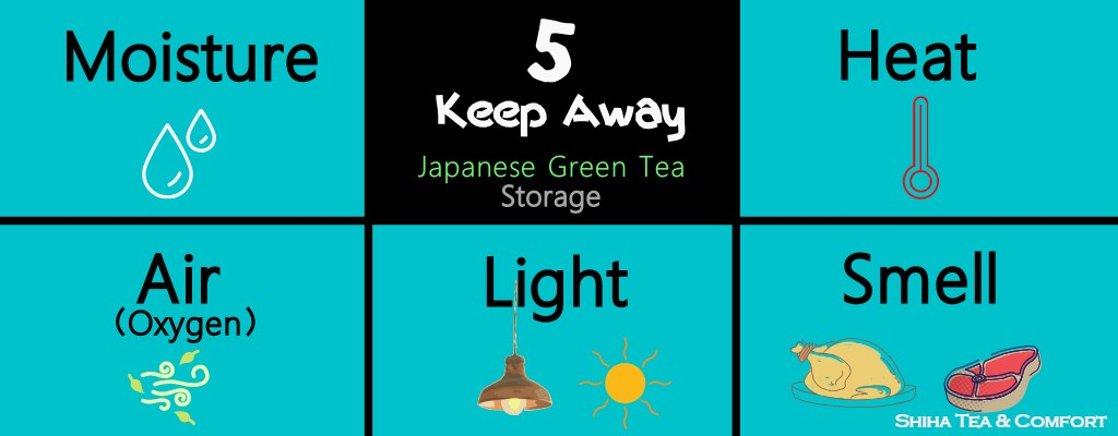 proper way of storage Japanese green tea preserve fresh